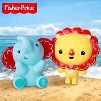 【当当自营】费雪(Fisher Price)洗澡玩具二合一 宝宝戏水玩具(小狮子+小象)