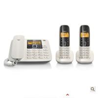 西门子Gigaset集怡嘉 数字无绳电话机A280一拖二套装 一部主机两部无绳分机