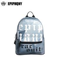 【支持礼品卡支付】Epiphqny韩版街头时尚学院风女学生双肩字母印花书背包休闲小背包51129