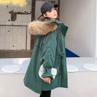秋冬款韩版宽松大码棉袄冬季孕后期棉衣孕妇冬装外套