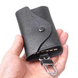 yvonge韵歌钥匙包男士士鸵鸟真皮牛皮套匙夹商务休闲潮流时尚经典耐用通用汽车钥匙扣