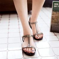 O'SHELL欧希尔新品057-X1666韩版平底鞋女士凉鞋