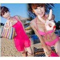 贝迪斯12091 裙式比基尼设计三件套女泳衣