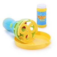 抖音电动泡泡枪玩具超大七彩泡泡水枪儿童吹泡泡机浓缩补充液