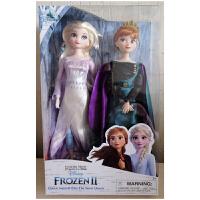 迪家冰雪奇缘艾莎爱莎公主安娜娃娃人偶儿童节超值礼物玩具2个装