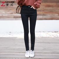 黑色牛仔裤女韩版高腰显瘦紧身小脚裤春秋季2018新款烟灰色长裤潮