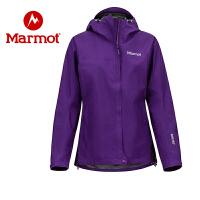 Marmot/土拨鼠女士户外拒风防水透气连帽冲锋衣