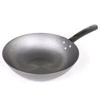 铸铁炒锅 铁锅 电磁炉通用 无涂层锅具 平底锅 健康厨具促销包邮