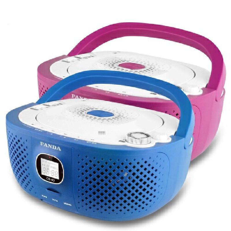 熊猫 CD-10 CD光盘 U盘 SD卡 TF卡 遥控 CD机 收音 台式 胎教 播放机【包邮+赠16G 优盘】