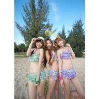 韩国设计可爱游泳衣比基尼裙式泳衣�g亦美珊1109