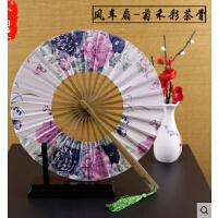 日式360度折扇 圆形头青竹女式扇子 樱花等风车扇多色  可礼品卡支付