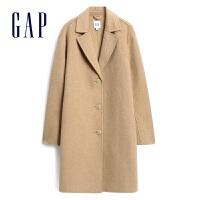 【3件活�宇A估�r:375】Gap女�bV�I毛呢大衣473486 �赓|�闻趴弁馓字虚L款女士�r尚外套