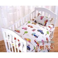 纯棉儿童被套罩单件卡通1.2m1.5米床幼儿园婴儿宝宝全棉床笠定做 白色 小树汽车