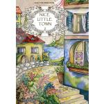 预订 Adult Coloring Book: Nice Little Town [ISBN:978197466460