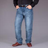 超大码男装秋冬弹力宽松加大码牛仔裤男士加肥加大直筒裤超大号男装胖子肥仔