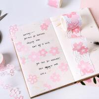 早沫原创 合成纸胶带 樱花海镂空系列 手帐日记DIY异形装饰贴 6款