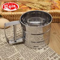 304不锈钢筛子面粉筛手持家用半自动网烘焙圆形糖粉杯式过滤网筛
