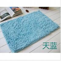 普润 高档超细纤维长毛雪尼尔地垫 厨房防滑地垫浴室吸水防滑垫30*50cm 天蓝色 产品编号:M4104
