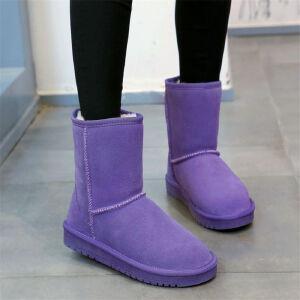 O'SHELL欧希尔新品110-17-X2欧美牛反皮女士雪地靴