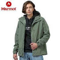 【开学季】Marmot/土拨鼠户外运动男士夹克保暖透气单层冲锋衣