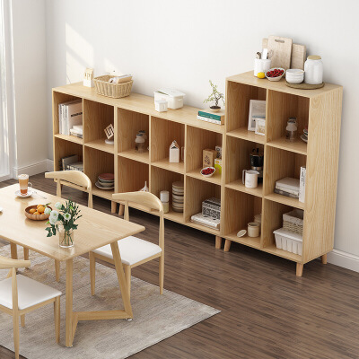 【爆款】北欧矮书架书柜落地组合收纳小型家用简易客厅经济型储物置物架子 支持礼品卡+积分 赛杉板材 大储物格设计