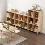 【限时领券抢购】环保加厚简约环保落地书柜书架 卧室置物架创意学生自由组合小书柜