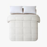 当当优品棉花双人冬被 全棉双层纱新疆棉花被芯200x230cm被子 夏叶(驼)