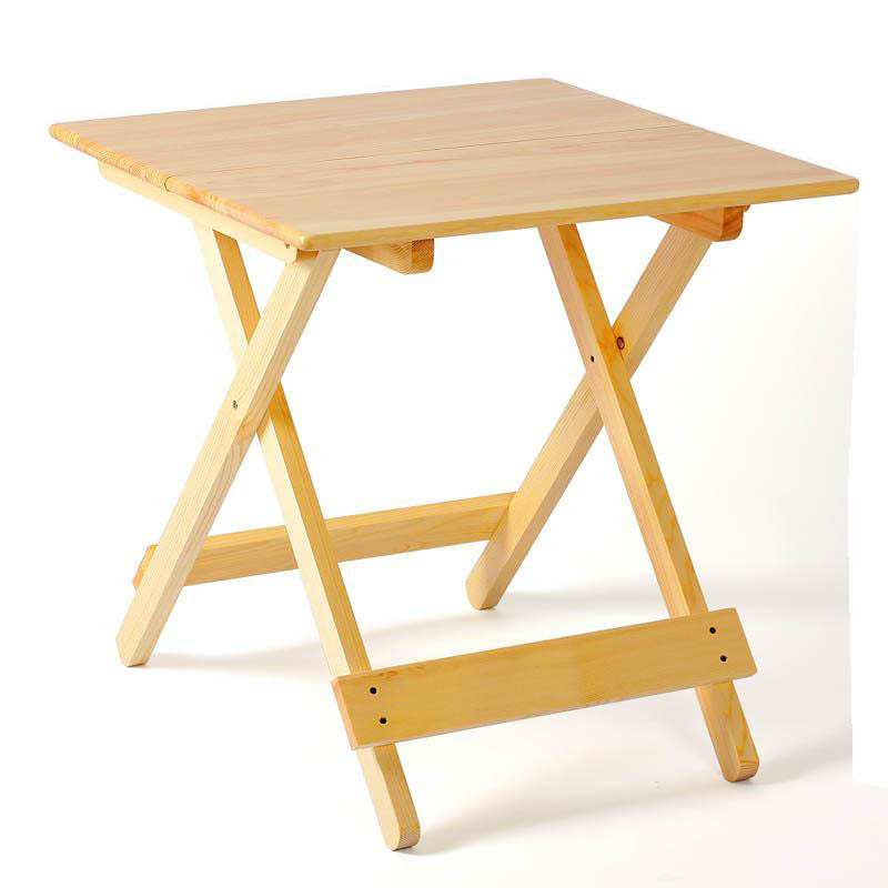 惠万家 实木折叠桌 简易 小户型 餐桌 便携式 饭桌 方桌子 户外折叠野