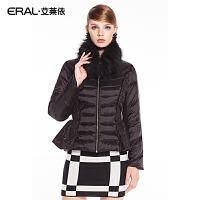 ERAL/艾莱依貉子领披肩领修身短款羽绒服女时尚外套2023C