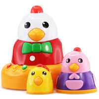 澳贝新品早教音乐益智小鸡玩具463476DS奥贝亲子互动叠叠乐一家亲