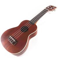 尤克里里UKULELE 桃花心木小可爱桃花心木琴柄四弦21寸小吉他 21寸
