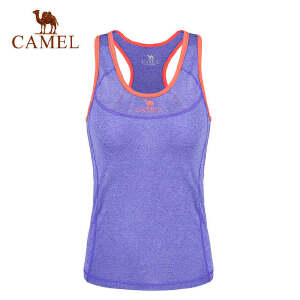 camel骆驼运动女款背心 春夏运动跑步瑜伽健身针织背心
