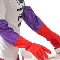 加绒保暖洗碗手套加厚橡胶洗衣服胶皮 家用乳胶厨房清洁家务用加厚加绒洗碗手套女 颜色随机