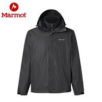 【开学季】Marmot/土拨鼠男女款保暖抓绒三合一冲锋衣