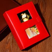 相册影集插页式经典皮扣4R标准6寸200张宝宝儿童家庭纪念册皮革款