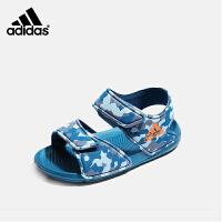 【到手价:199元】阿迪达斯adidas童鞋2019夏季新款男女童软底凉鞋中小童露趾沙滩鞋(3-15岁可选)CQ004