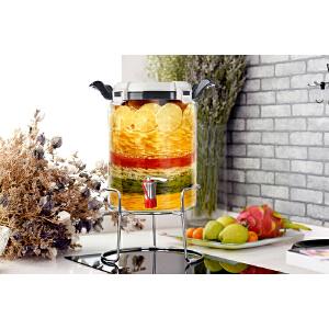 北斗正明酵素桶发酵桶玻璃自动排气家用食品级泡酒瓶带龙头密封罐 蒙砂图案