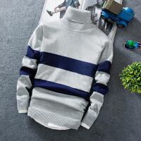 新款男士线衫男装套头加绒高领毛衣男加厚毛衫保暖线衣针织衫
