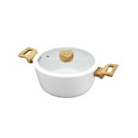 现代工匠 金品陶瓷涂层汤锅XDTG-718陶瓷炖锅不沾汤煮锅24cm 明火 电磁炉通用