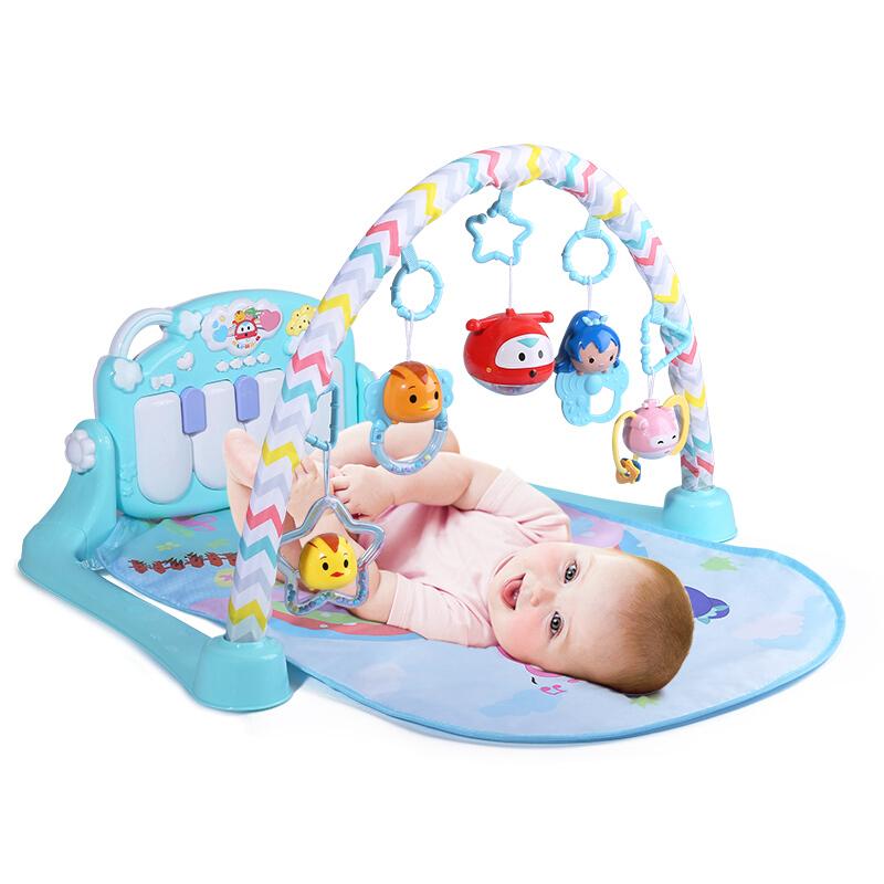 婴儿玩具脚踏钢琴健身架萌鸡小队新生儿童益智音乐毯6宝宝0-1岁3-12个月 99立减5,满29元全国28省包邮 偏远6省除外