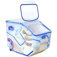 �房�房垩b米桶 家用米缸米桶防潮防�x密封桶米盒子 �γ紫�20斤�b