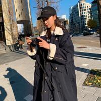 冬季棉袄韩版宽松孕后期孕妇棉衣加绒加厚冬装羊羔毛外套