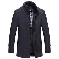 秋冬男士羊毛呢大衣中长款外套修身加棉加厚立领羊毛风衣青年潮男