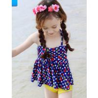 公主比基尼����分�w裙式 �和�游泳衣女童女孩泳�b 小中大童泳� 支持�Y品卡