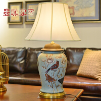 墨菲大号欧式奢华彩绘陶瓷创意新中式客厅书房别墅会所软装饰台灯