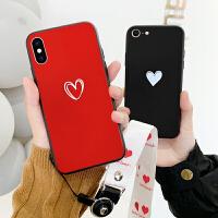 苹果8plus手机壳情侣iPhone6s plus硅胶保护套全包防摔软边7p潮牌个性创意xr男女挂绳浮雕xs max网