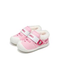 【119元任选2双】迪士尼童鞋冬季加绒男宝宝鞋学步鞋婴幼童 DH0401