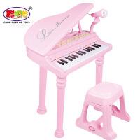 好礼儿童节教学儿童电子琴音乐玩具带麦克风 可外接电源 3-6周岁
