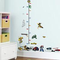孩派 变形金刚儿童房卧室环保可移除身高贴踢脚线装饰墙贴