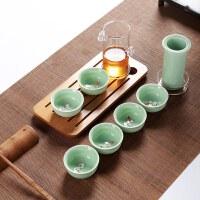 玻璃陶瓷过滤双耳泡茶壶小号花草茶冲茶器红茶茶具玻璃泡茶器